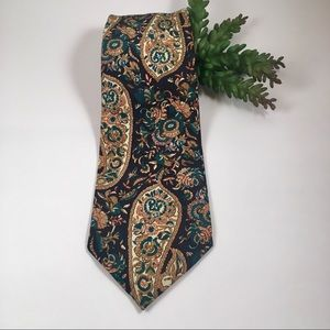 Italian silk handmade necktie paisley tie